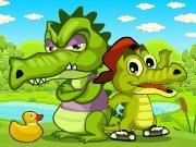 Krokodýl loví kachny hra online