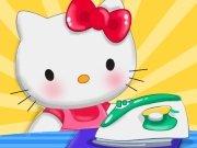 Hello Kitty pere prádlo hra online