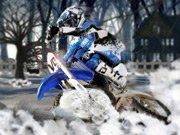Extrémní off road na motorce v zimě hra online