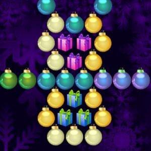 Vánoční střílení bublin hra online