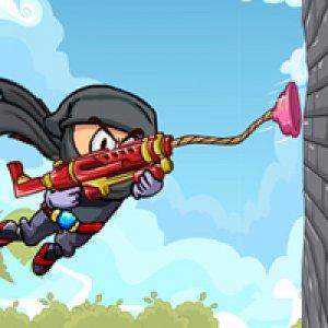 Ninja s přísavkou hra online