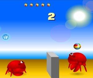 Krabí volejbal hra online