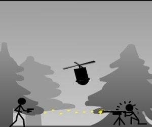 Stickman mariňák hra online